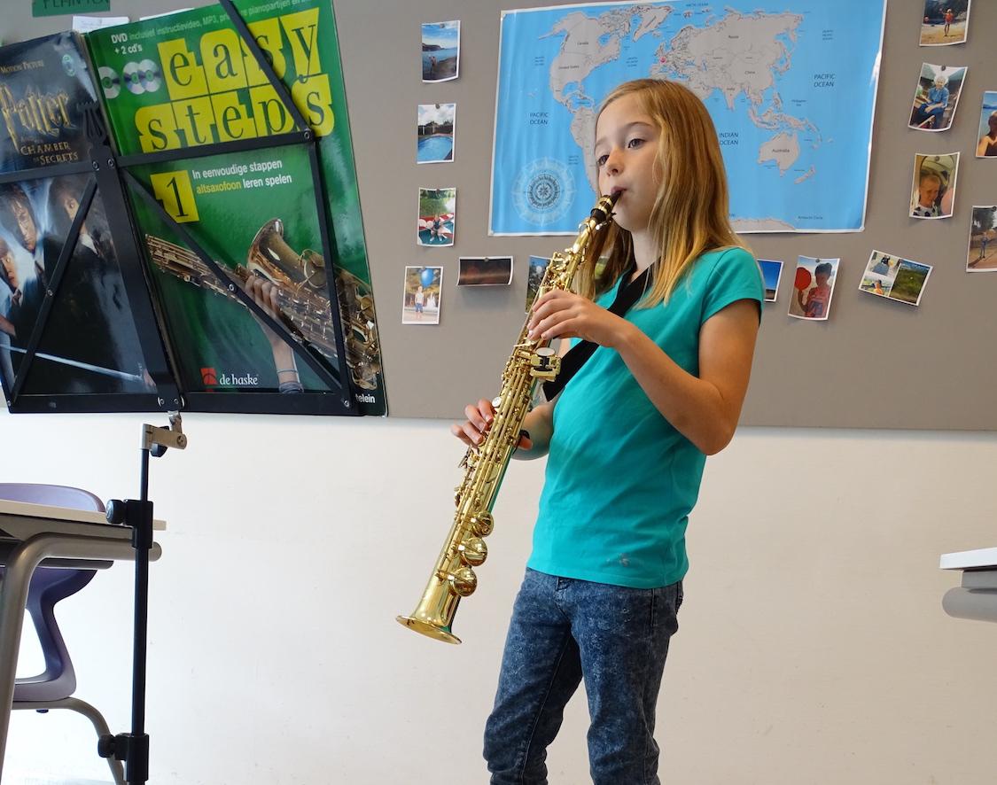 De eerste saxofoonlessen van Gert Oosterwijk